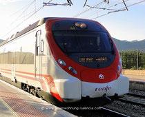 Ferienwohnung Valencia, mit dem Zug von Gandia Nach Valencia