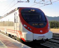 Zug von Gandia nach Valencia. Spanien, Zugfahrplan