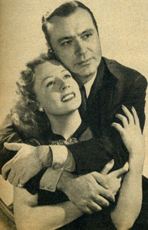 "Irene Dunne co-starred with Charles Boyer in her big romantic success, ""Love Affair."""