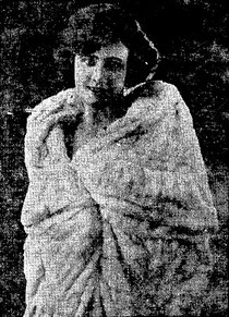 "Irene in the ermine wrap she wore in ""Irene"" in 1922"