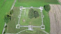 Luftbild von einer Drohne für Ausgrabung bei Archäologie - copter-drone