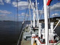 Nach der Werftzeit folgte die Probefahrt (Foto Dr. Hochhaus)