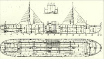 Binnentanker VANDAL. Zeichnung aus: Zeitschrift des Vereins deutscher Ingenieure, Bd. 49, Nr. 21, 27. Mai 1905, S. 892