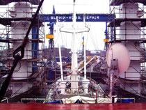 In der Werft, Blick nach achtern (Foto Dr. Hochhaus)