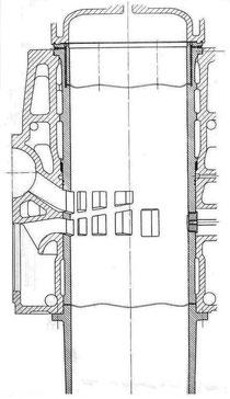 Zeichnung der Buchse im eingebauten Zustand (Quelle MAN)
