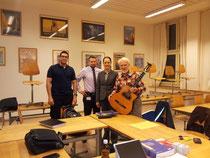 von links: Carl-Luis Werner, Oliver Weil, Corinne Michel, Josef Michel.
