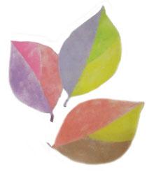 和紙の葉っぱ