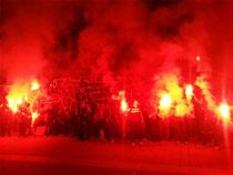 10 Jahre Ultrà Sankt Pauli mit Pyro