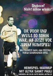 WarmUp mit Ultrà Sankt Pauli am Freitag vor dem Heimspiel gegen Sandhausen