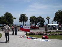 La bandera chilena - chilenische Flaggen gibt es immer und überall