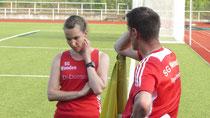 Ina Rademacher mit Trainer Egon Bröcher
