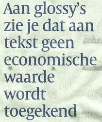 Volkskrant M. Februari over corporate magazines