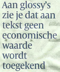 Volkskrant M. Februari over corporate magazines