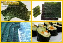 Alga Nori Tipos de corte e ingredientes en la Cocina Japonesa - Herbolario El Alquimista Arrecife Lanzarote