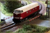 BR118 am Bahnübergang