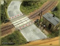 fertiger Bahnübergang