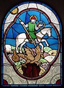vitrail St Georges. Philippe Brissy. Atelier Théophile. Saumur