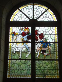 vitrail baroque. Philippe Brissy. Atelier Théophile. Saumur