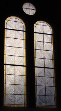 vitrail contemporain - Philippe Brissy. Atelier Théophile. Saumur