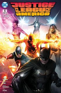 Justice League of america 5 Der Gott der Superhelden Cover von Panini