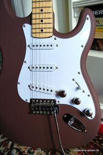 Gitarre Leder Lackierung