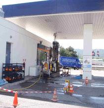 Instal·lació de piezòmetre en benzinera