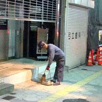 11.工事完了後は付近の清掃を行って終了です。