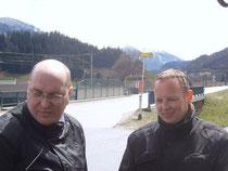 Links: Pa und Rechts: Horst - auf dem Weg nach Elba
