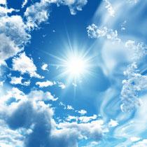 明るい太陽の風景