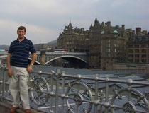 Edimburgo desde el rio Leith