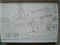 Zeichnung Brügge