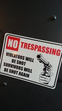 No Tresspassing