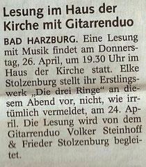 Goslarsche Zeitung 14.04.12