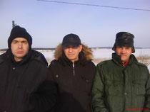 р. Кама, зимняя рыбалка.