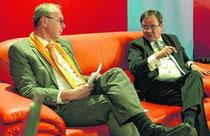 CDU-Bürgermeisterkandidat Berndt (l.) u. NRW-CDU Landeschef Laschet