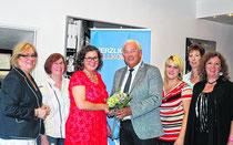 neu gewählter Vorstand der FU Eschweiler (Vors. Grafen 3 v. l. sowie H. Brandt, MdB 4 v. l.)