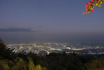 Chiang Mai by night, view from Doi Suthep