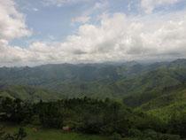 Mountain view near Phu Khun Louang Prabang province Laos