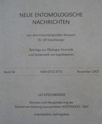 Neue Entomologische Nachrichten Eitschberger 2003