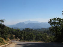 Mountain view along the border from Myanmar in Tak province