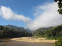 River and mountain view in Mae Ngao NP, Mae Hong Son province