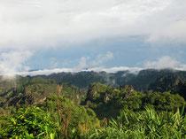 View of Phou Hin Boun, Khammouan province