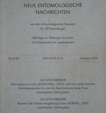 Neue Entomologische Nachrichten Eitschberger 2004