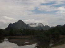 Mountains near Ban Phon Khen, Khammouan province
