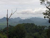 Landscape near Khanom, Surat Thani province