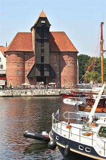 Museoitu satamanosturi Gdanskissa