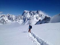 1 Meter Neuschnee im Valée Blanche
