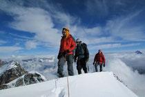 erste Spur auf den frisch verschneiten Castor