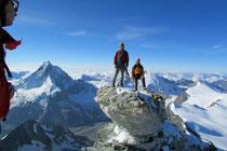 Letzter Turm, hinten das Matterhorn