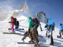 Start auf der Aiguille du Midi 3842m